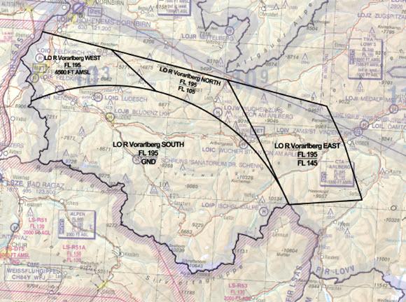 WEF Davos, Luftraum-Beschränkungen in Österreich