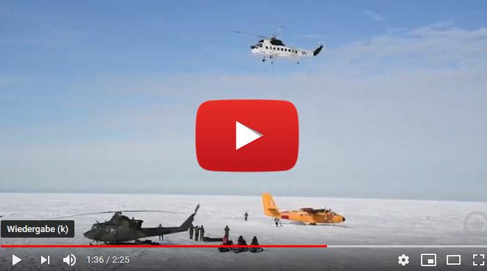 Twin Otter aus Eis gerettet