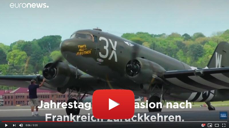 D-Day Flugzeug kehrt in Normandie zurück