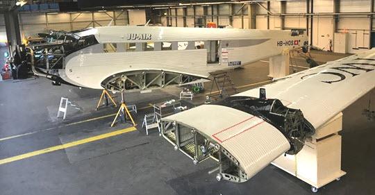 JU-AIR beginnt Grundüberholung ihrer JU-52