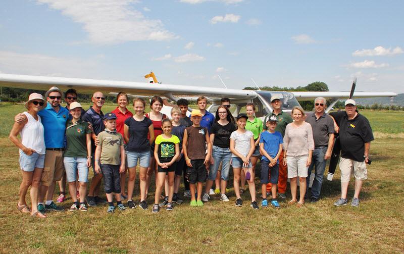 Walldorfer Luftsportler haben ein Herz für kleine Patienten