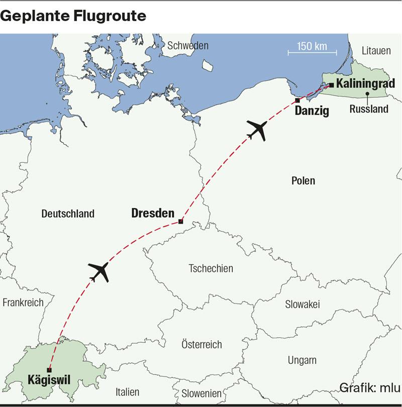 Von Kägiswil nach Königsberg