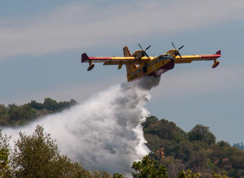 Löschflugzeug-Flotte gegen Waldbrände