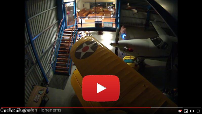 Video zum Flugplatz-Einbruch in Hohenems