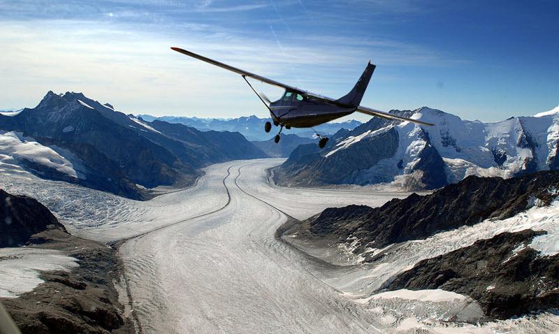 Luftbestattungen in den Schweizer Alpen