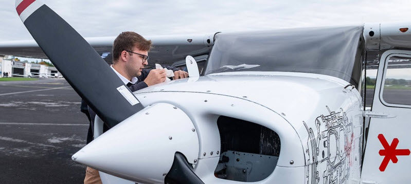 Lehrstunde im Cessna-Simulator