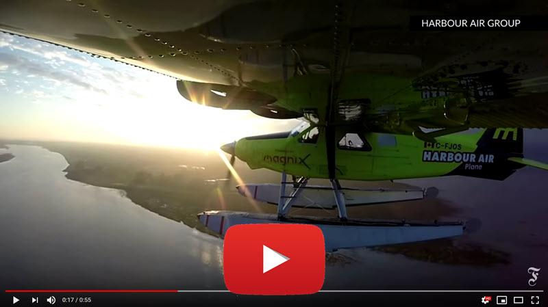 Elektro-Wasserflugzeug vorgestellt.