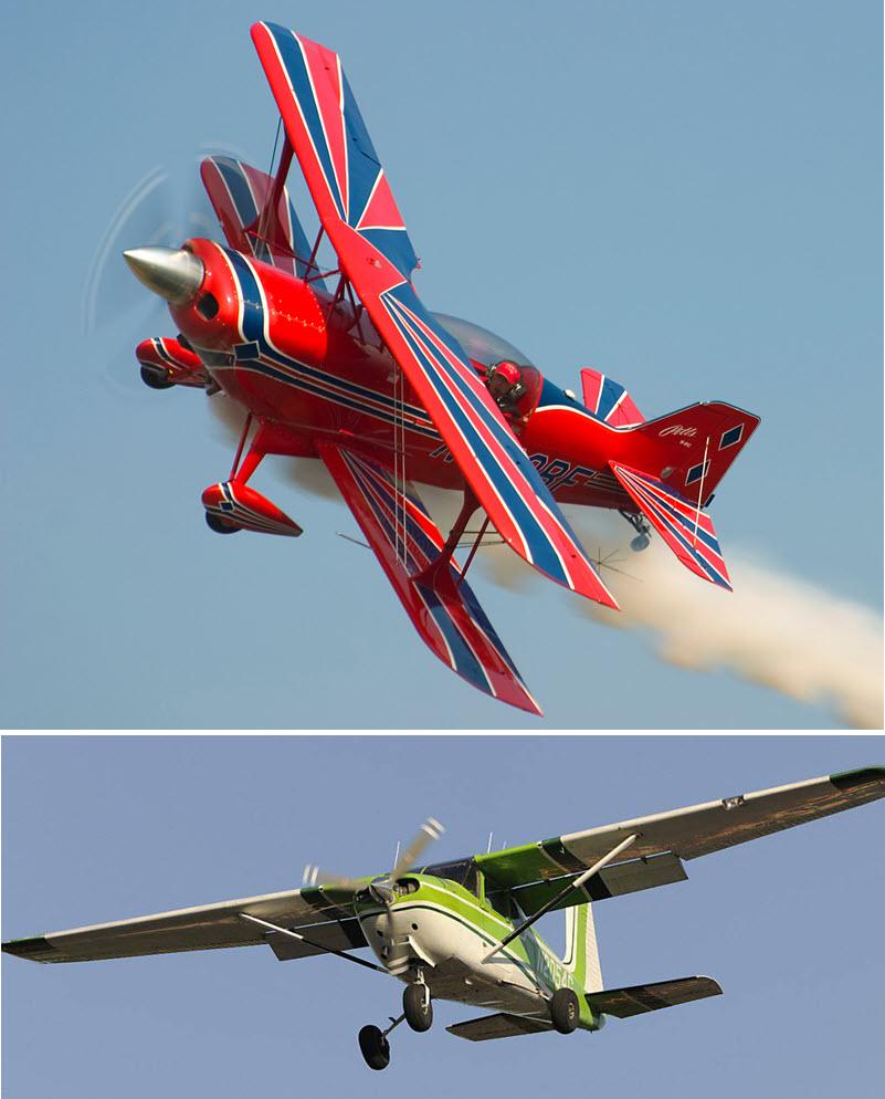 Akrobatik-Flugzeug kommt Cessna nahe