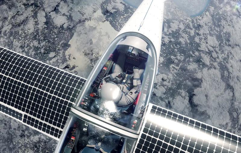 Im Solarflugzeug Richtung Weltall