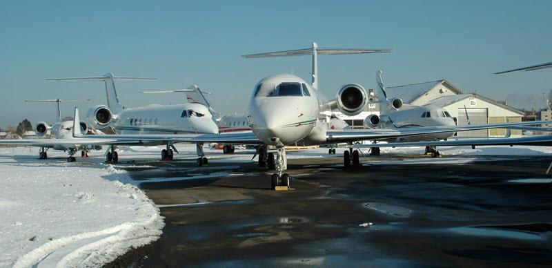 WEF: Hochbetrieb auf umliegenden Flughäfen