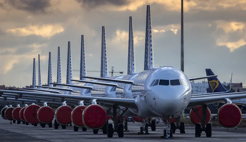 14'000 Flugzeuge am Boden