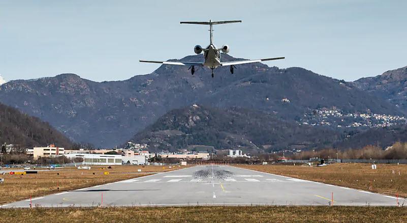 Betreiberin des Flughafens Lugano-Agno zahlungsunfähig