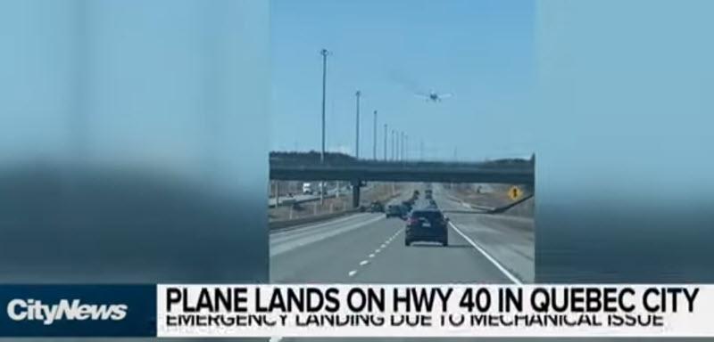 Notlandung auf Autobahn