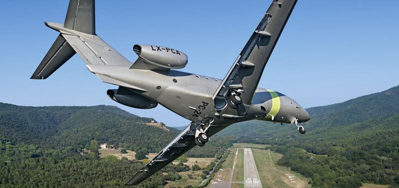 Gefährliche Annäherung von PC-24 und Segelflieger