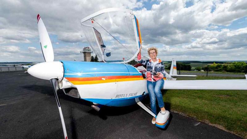Thüringens älteste Fluglehrerin