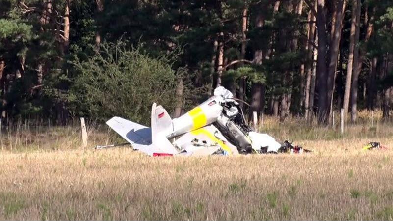 Kleinflugzeug bei Paulinenaue abgestürzt