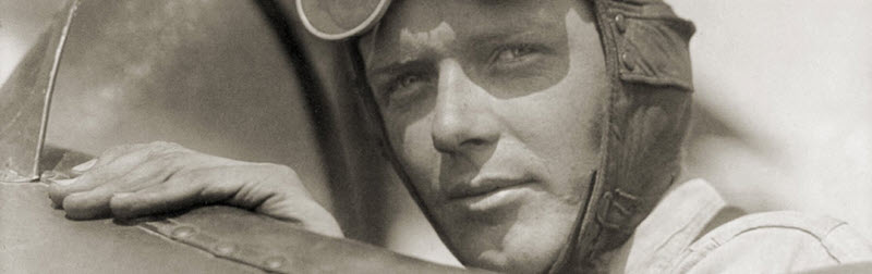 Geschichte von Lindbergh und der Maschine Mensch