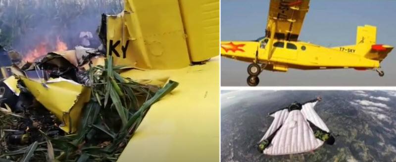 Absetz-Pilot und Wingsuit-Springer sterben bei Flugunfall
