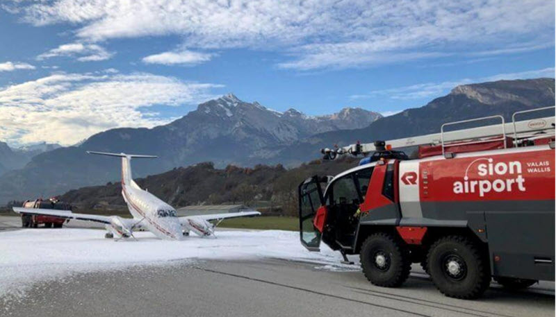F/A-18 Hot Mission vor Beech-Notlandung in Sion