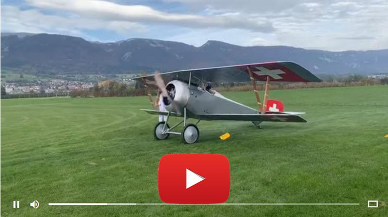 Erstflug der Nieuport 23C-1 in Grenchen
