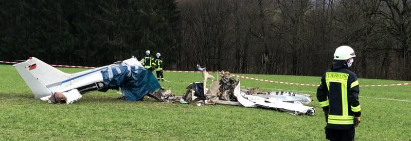 Sportflugzeug im Westerwald abgestürzt