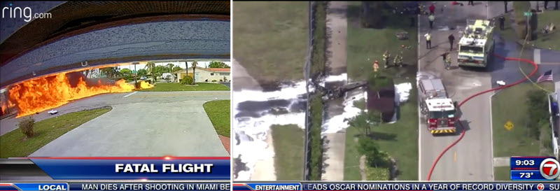 Plane crash in Pembroke Pines