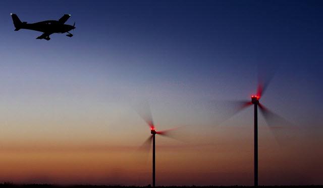 Transponderbasiertes BNK-System löscht Lichter im Windpark