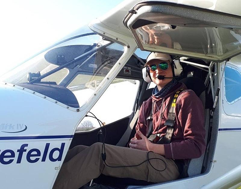 Mit einem Ultraleichtflugzeug hoch hinaus