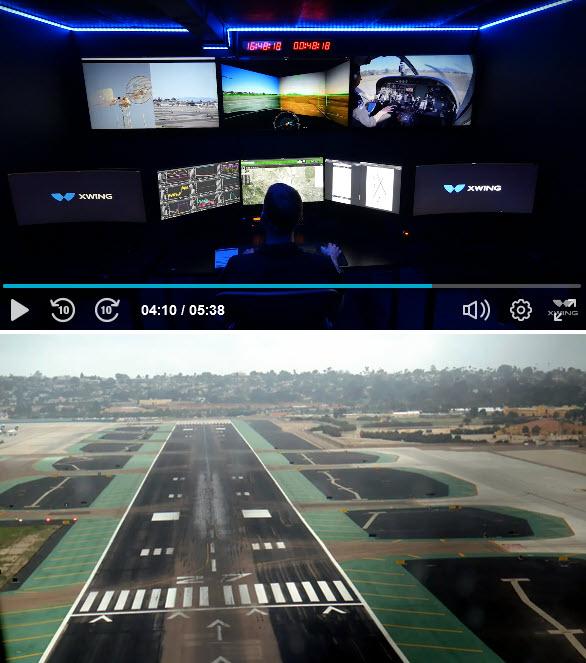 Frachtflugzeug fliegt autonom von Gate zu Gate