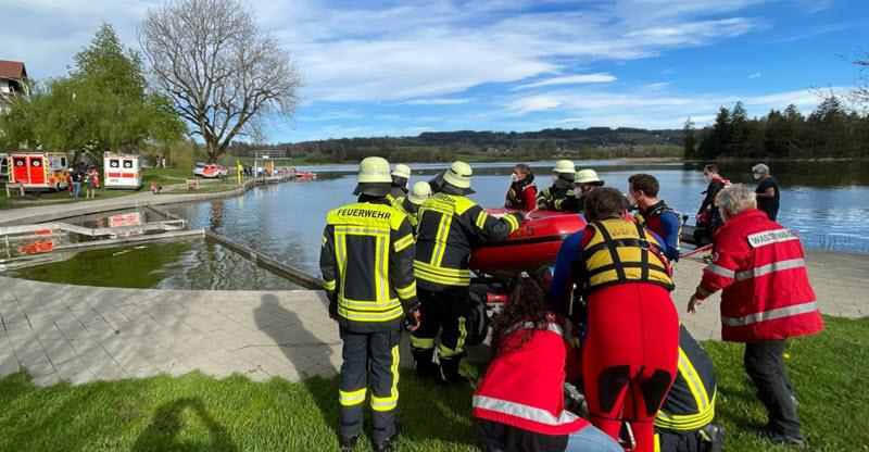 Notlandung in Allgäuer See