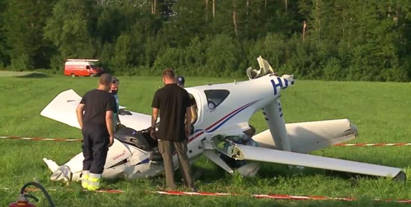 Kleinflugzeug-Absturz bei Lupfig