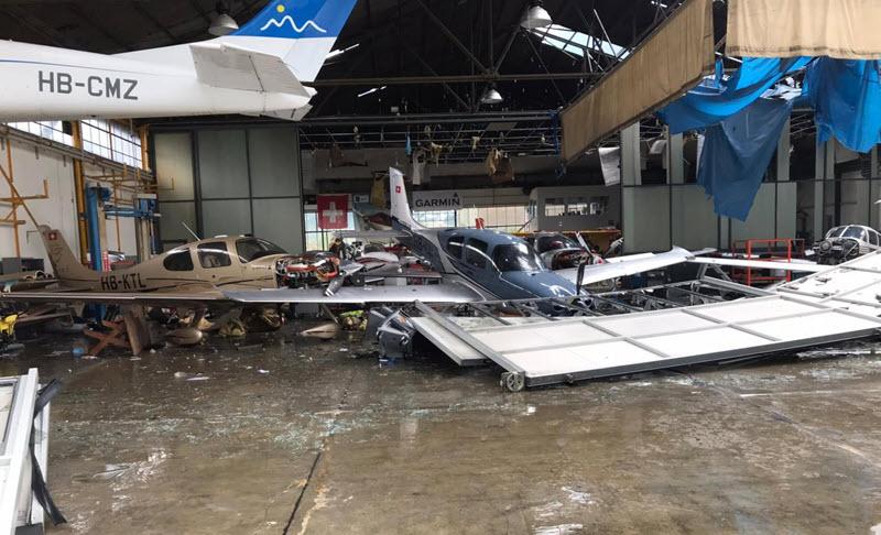 Flughafen Locarno-Magadino teilweise zerstört