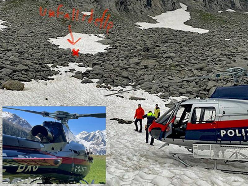 Bei Sturm im Hochgebirge gerettet