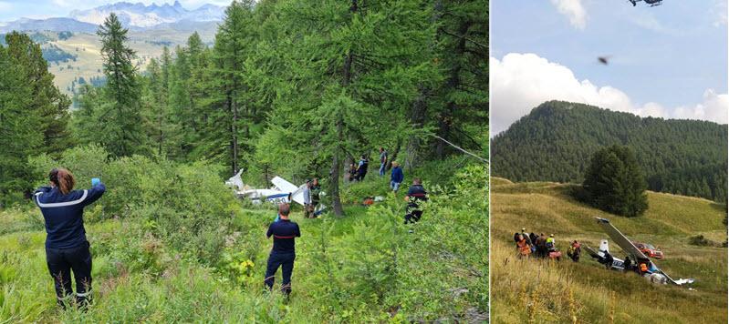Doppel-Absturz in den Hautes-Alpes