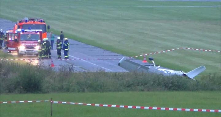 Unfall bei Flughafen in Weiden