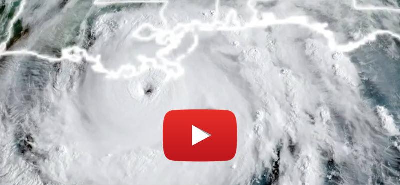 Durch Hurrican Ida's Auge