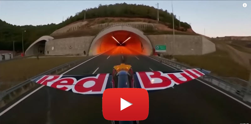 Dario Costa fliegt mit 245 km/h durch Tunnel