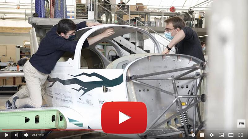 ETH-Studenten entwickeln Elektroflugzeug-Viersitzer